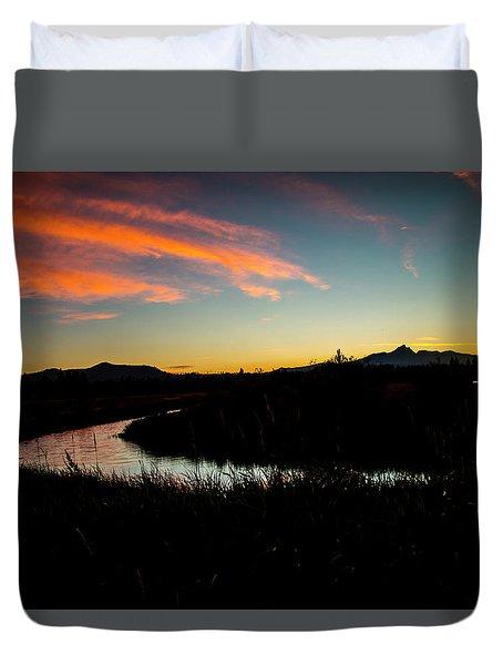 Silhouette Sunset Duvet Cover