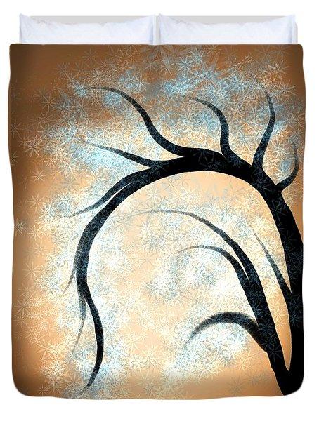 Silhouette Tree Duvet Cover