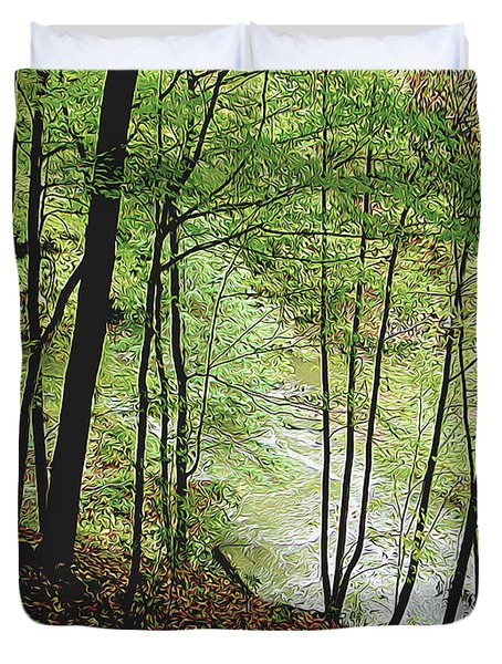 Silhouetted Trees Duvet Cover