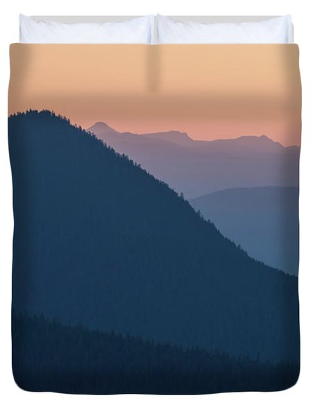 Silhouettes At Sunset, No. 2 Duvet Cover