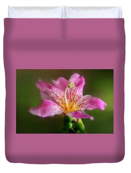 Silk Floss Flower Duvet Cover