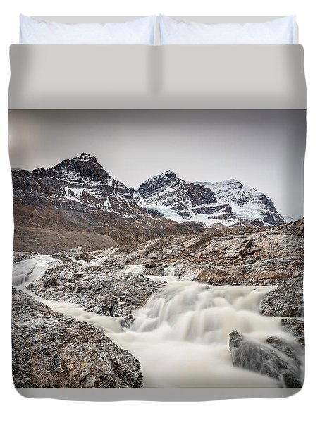 Silky Melt Water Of Athabasca Glacier Duvet Cover