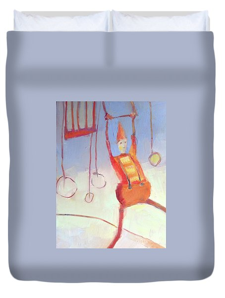 Silly Clown Duvet Cover