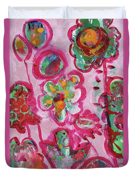 Silly Flowers Duvet Cover