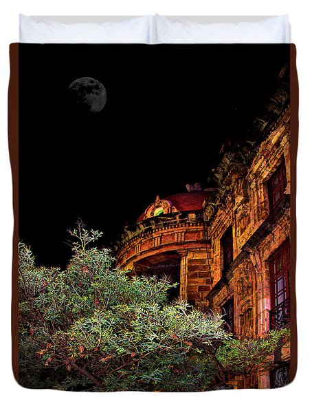 Silly Hall, Cuenca, Ecuador II Duvet Cover by Al Bourassa
