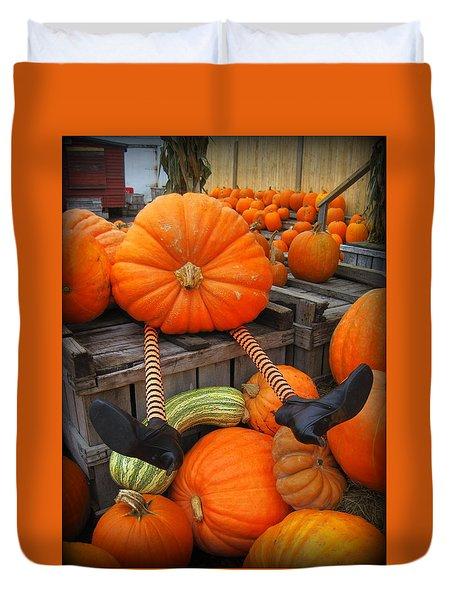 Silly Pumpkin Duvet Cover
