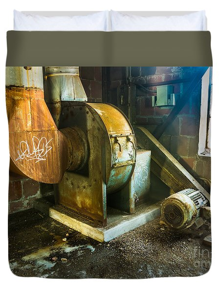 Duvet Cover featuring the photograph Silo Heat Exchangers by Darleen Stry