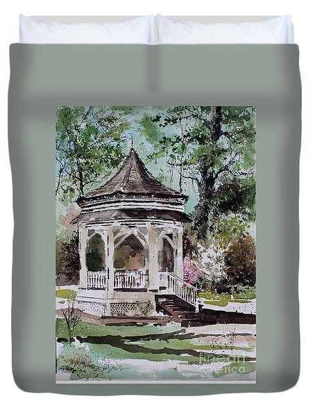 Siloam Springs Park Duvet Cover by Monte Toon
