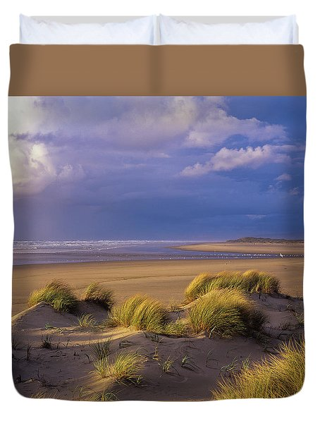 Siltcoos River Mouth Duvet Cover