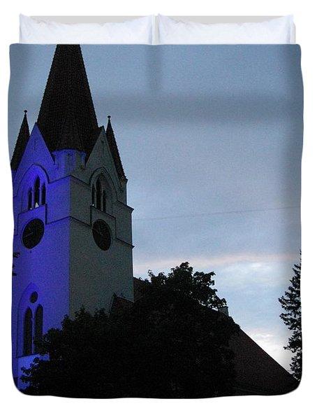 Silute Lutheran Evangelic Church Lithuania 01 Duvet Cover by Ausra Huntington nee Paulauskaite