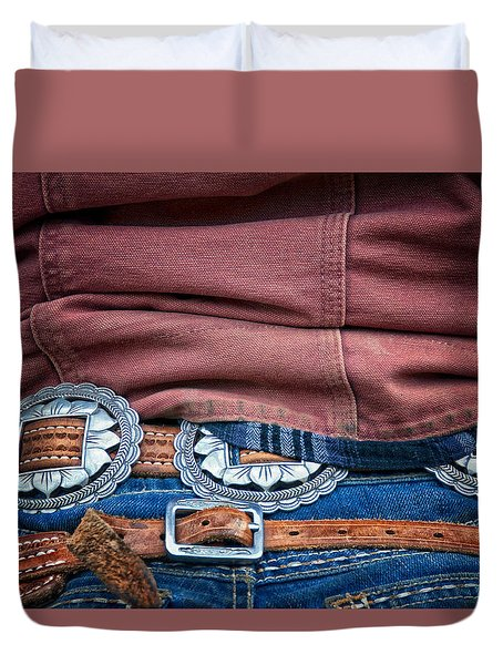 Silver Belt Duvet Cover