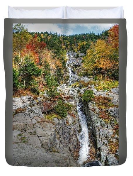 Silver Cascade Waterfall Duvet Cover