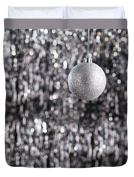 Duvet Cover featuring the photograph Silver Christmas by Ulrich Schade