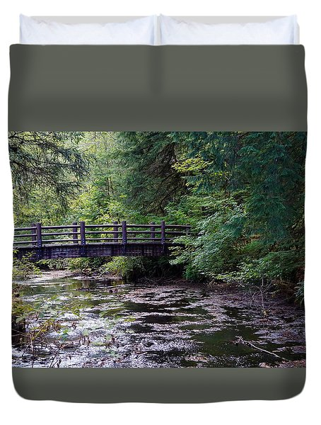 Silver Creek Falls #38 Duvet Cover