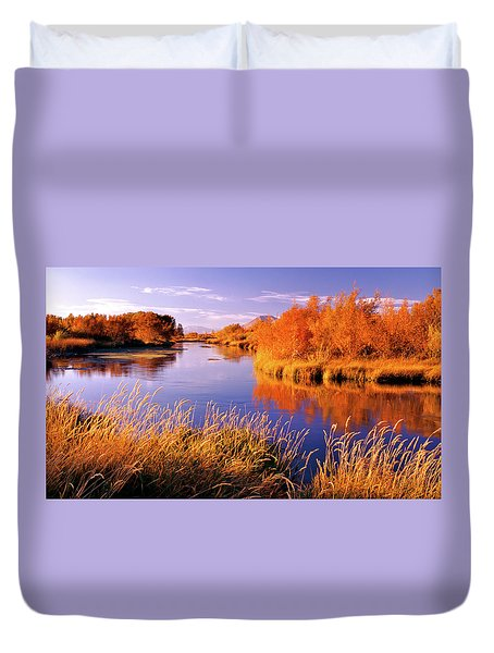 Silver Creek Fly Fishing Only Duvet Cover