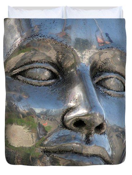Silver Delores Del Rio Duvet Cover