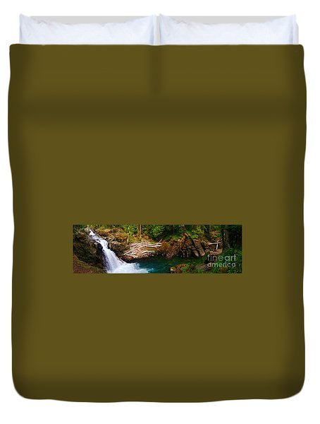 Silver Falls Panorama Duvet Cover by Sean Griffin
