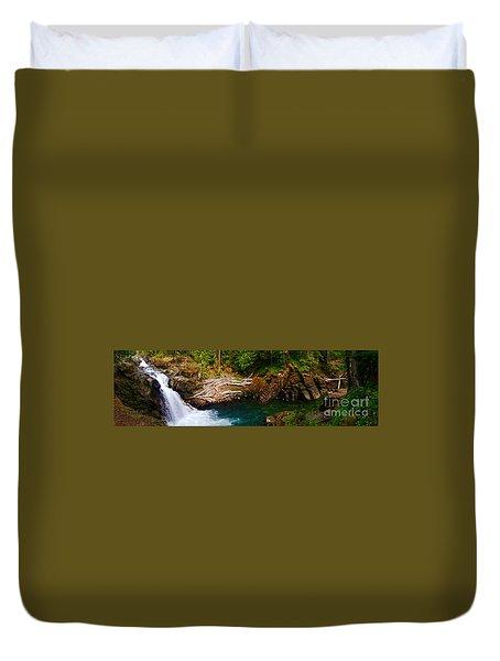 Silver Falls Panorama Duvet Cover