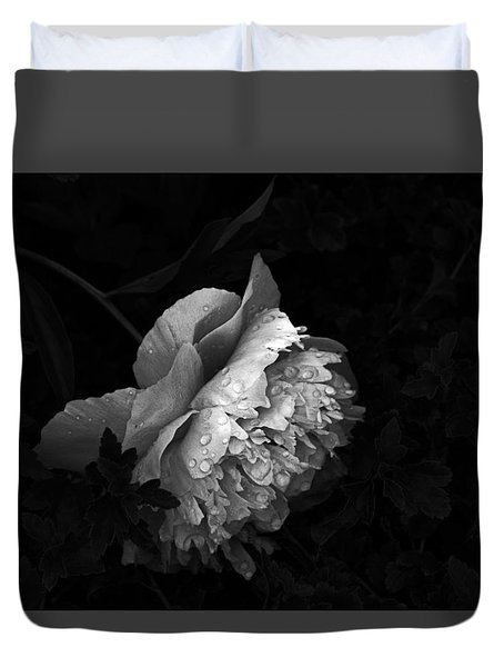 Silver Flower Duvet Cover