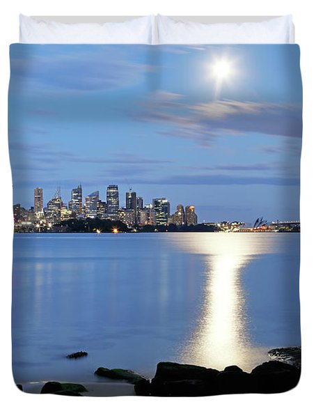 Duvet Cover featuring the photograph Silver Harbour by Nicholas Blackwell