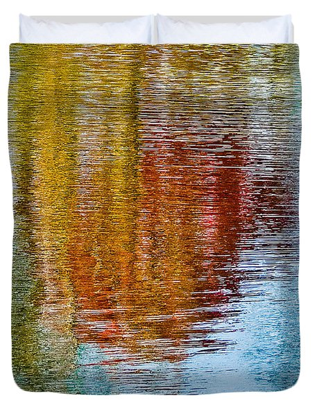 Silver Lake Autumn Reflections Duvet Cover