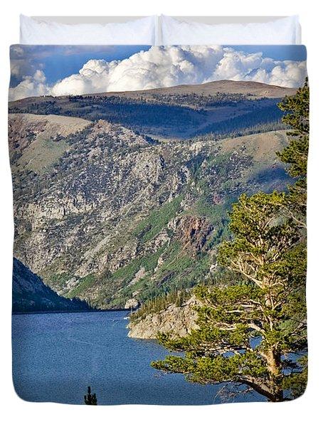 Silver Lake Pines Duvet Cover by Chris Brannen