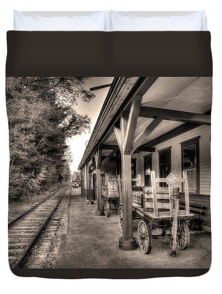 Silver Lake Rail Road 253 Duvet Cover