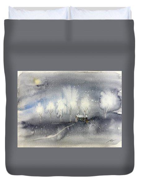 Silver Night Duvet Cover