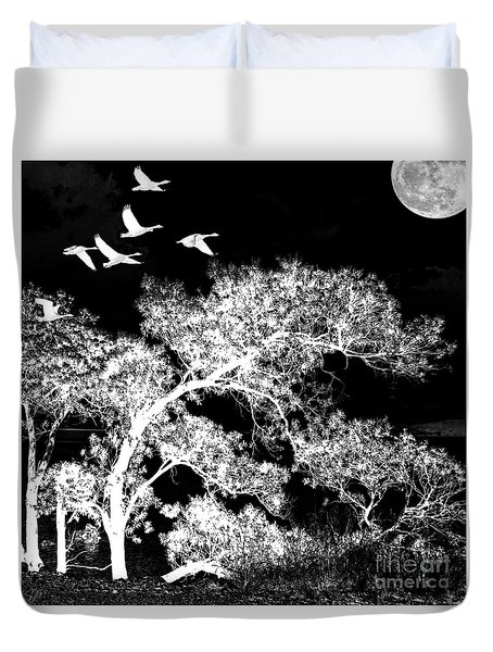 Silver Nights Duvet Cover