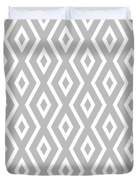 Silver Pattern Duvet Cover