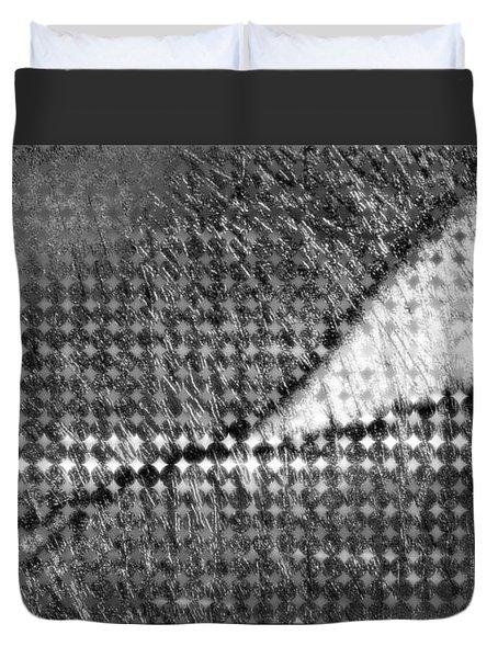 Duvet Cover featuring the digital art Silver Peg by Constance Krejci