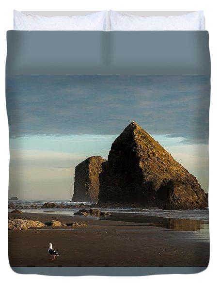 Silver Point Seastacks Duvet Cover