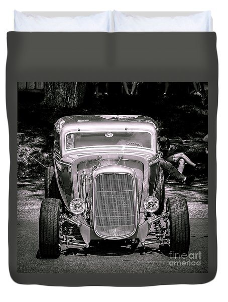 Silver Ride Duvet Cover