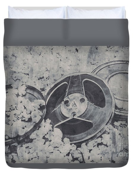 Silver Screen Film Noir Duvet Cover