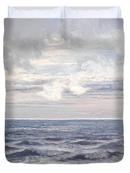 Silver Sea Duvet Cover by Henry Moore