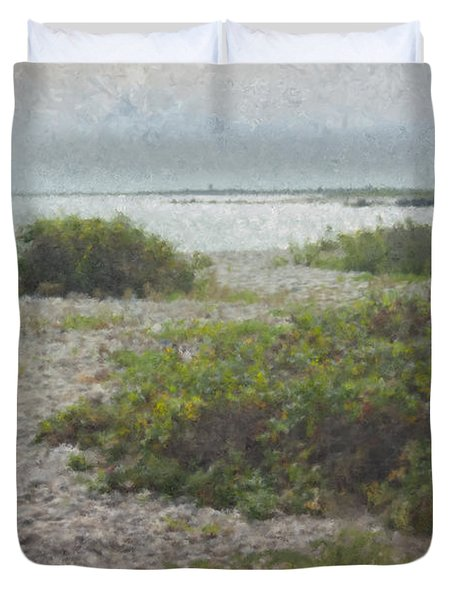 Silver Shoreline Westport Ma Duvet Cover