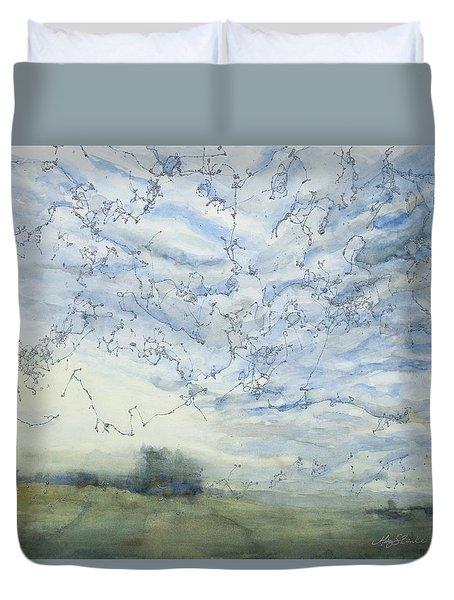 Silver Sky Duvet Cover