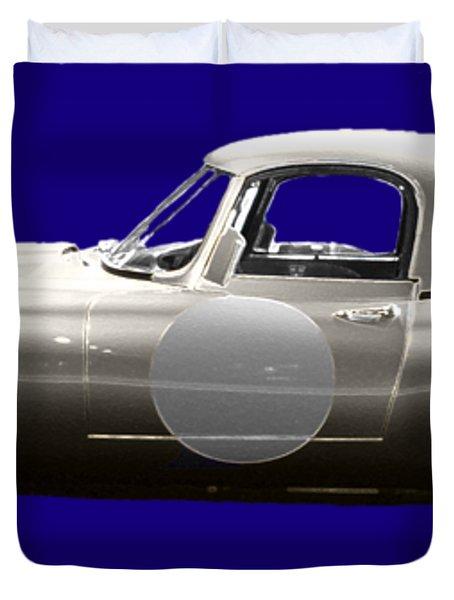 Silver Sports Car Art Duvet Cover
