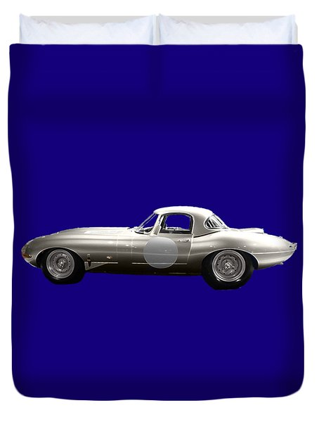 Silver Sports Car Art Duvet Cover