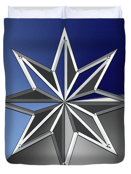 Silver Star Duvet Cover