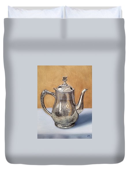 Silver Teapot Duvet Cover