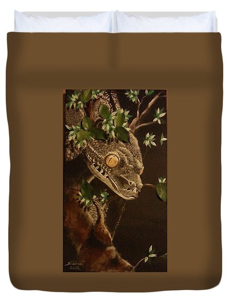 Silver Tree Python Duvet Cover