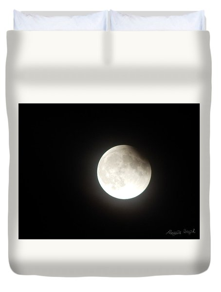 Silver White Eclipse Duvet Cover