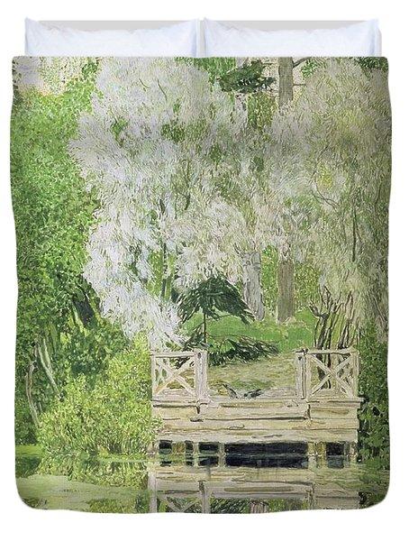 Silver White Willow Duvet Cover by Aleksandr Jakovlevic Golovin