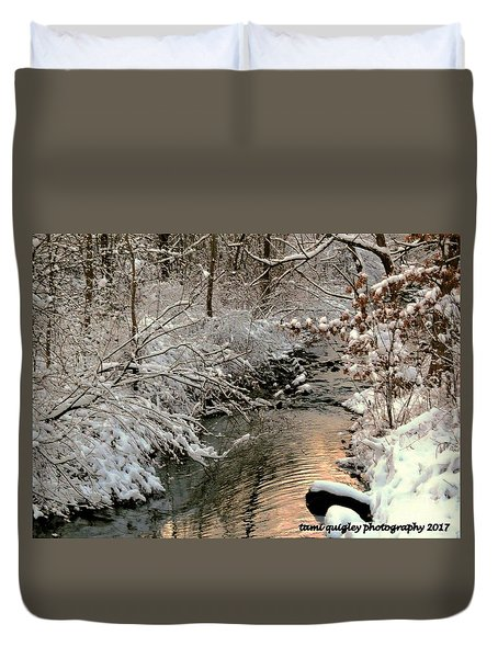 Silvered Shores Duvet Cover
