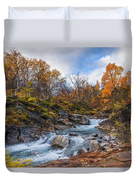 Duvet Cover featuring the photograph Silverfallet by James Billings