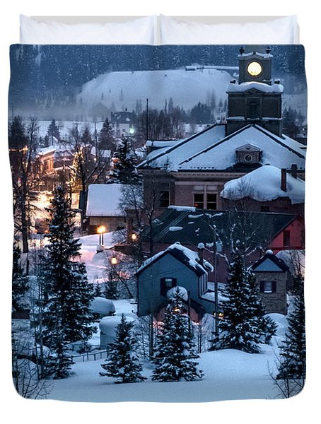 Silverton At Night Duvet Cover