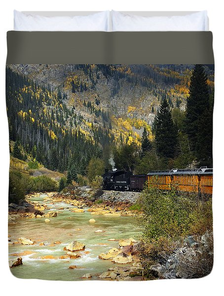 Duvet Cover featuring the photograph Silverton Bound by Kurt Van Wagner