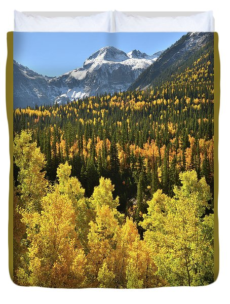 Duvet Cover featuring the photograph Silverton Mountainscape by Ray Mathis