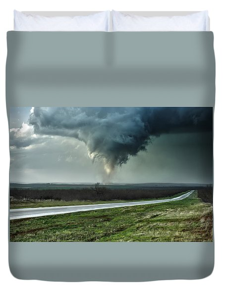 Duvet Cover featuring the photograph Silverton Texas Tornado 2 by James Menzies